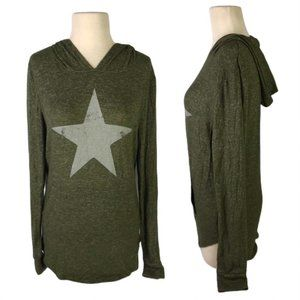 Grayson Threads Womens Large Green Hoodie Star
